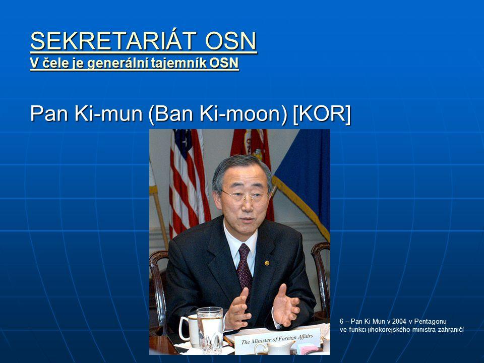 SEKRETARIÁT OSN Pan Ki-mun (Ban Ki-moon) [KOR]